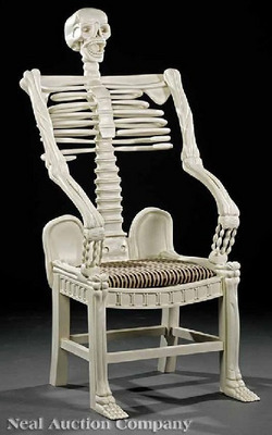 skeleton chair at neal auction company the dabbler