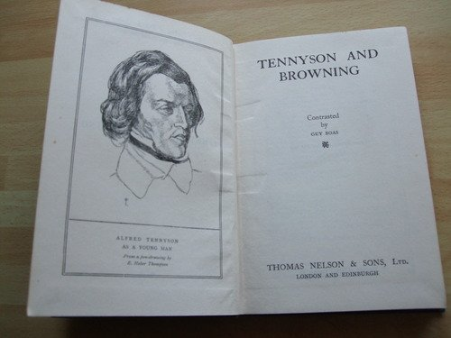 browning and tennyson Sordello is a narrative poem by the english poet robert browning worked on for  seven years,  time of its publication: tennyson's opinion was recorded thus by  william sharp in his biography of browning: lord tennyson manfully tackled it,.