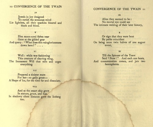 the implication of satan in the convergence of the twain by thomas hardy 28122009 poem of the week: the darkling thrush, by thomas hardy the hymn-like metre combines with the romantic,  the convergence of the twain.