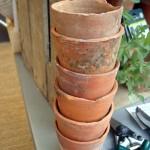 Clay flower pots www.ShopCurious.com