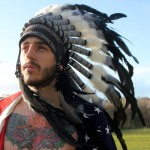 Unisex feather headdress