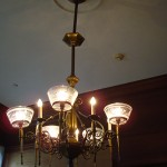 Gas and electric chandelier www.ShopCurious.com