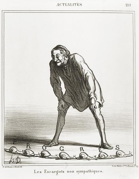DAUMIER Les Escargot Telegraph