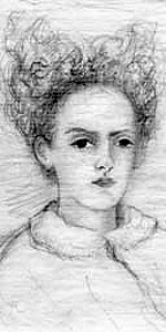 Rose la Touche on her deathbed, sketch by Ruskin