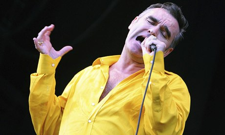 Brittish singer Morrisey performs during