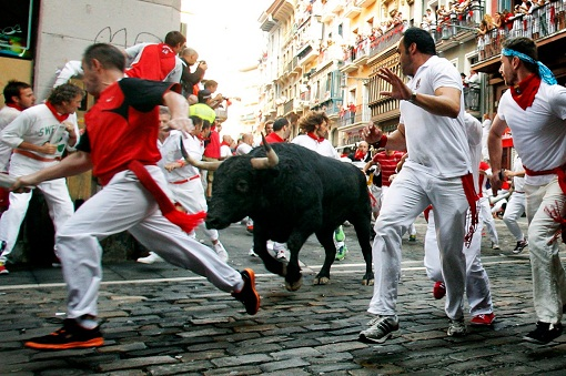Spain Running of the Bulls