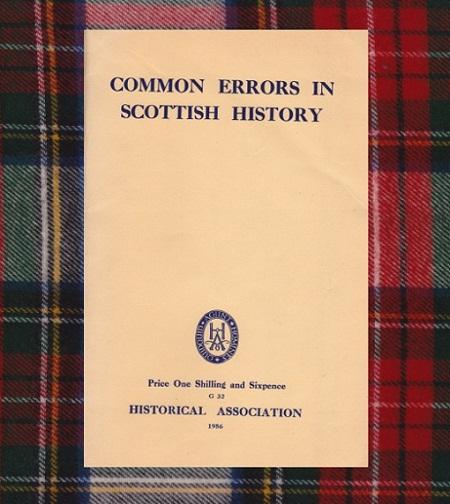 common errors in scottish history