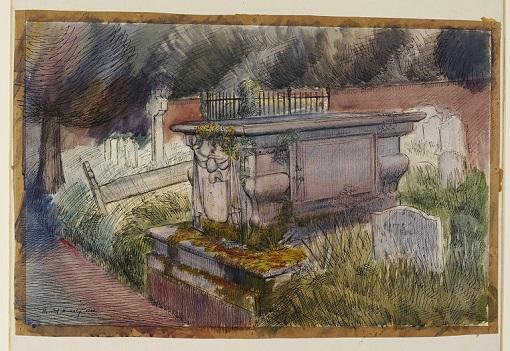 "Harold Hussey, ""Tomb in Hurley Churchyard"" (1940"