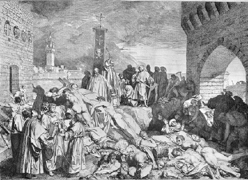 L0004057 The plague of Florence in 1348, as described in Boccaccio's