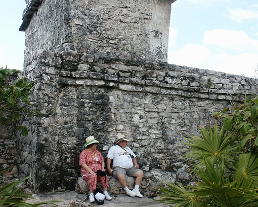 Tourists Tulum