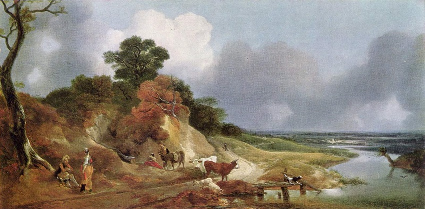 Gainsborough landscape-with-the-village-cornard