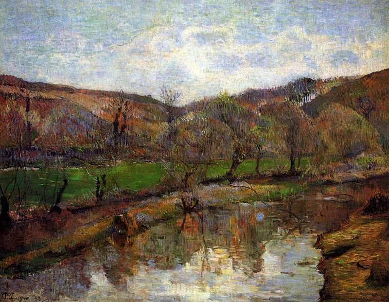 "Paul Gauguin, ""Upstream of Pont-Aven"" (1888)"