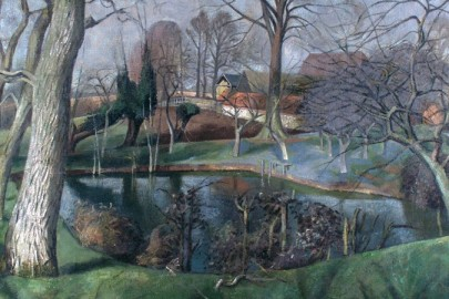 "John Aldridge, ""Besslyn's Pond, Great Bardfield"" (c. 1950)"