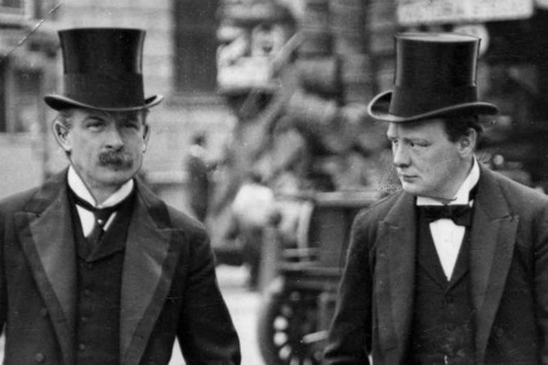 Lloyd George and Churchill in 1910