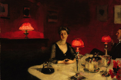 Le verre de porto (A Dinner Table at Night) (1884)