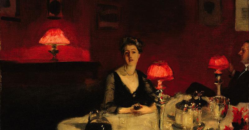 Le verre de porto (A Dinner Table at Night) (1884)