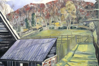 "Paul Nash, ""Behind the Inn"" (1919-1922)"