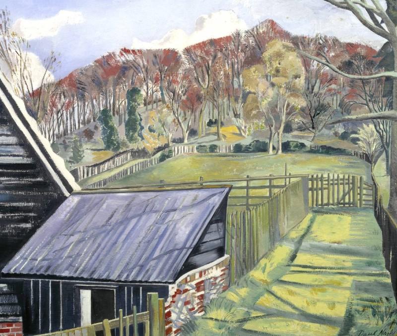 """Paul Nash, """"Behind the Inn"""" (1919-1922)"""