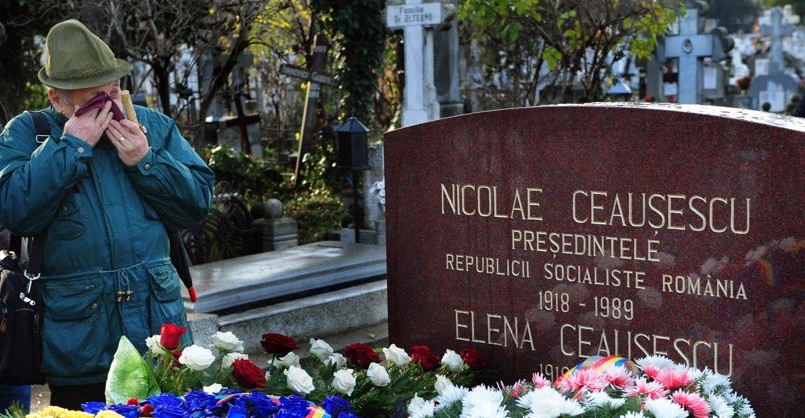 ROMANIA-HISTORY-COMMUNISM-CEAUSESCU-NEW-GRAVE