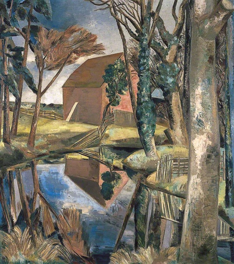 "Paul Nash, ""Oxenbridge Pond"" (1927-1928)"