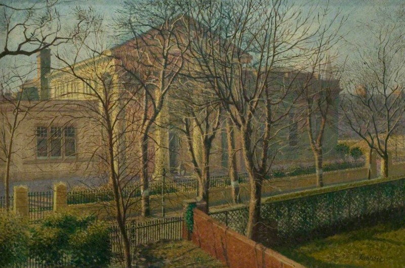 "Herbert Victor Tempest  ""View of Leicester Museum"""