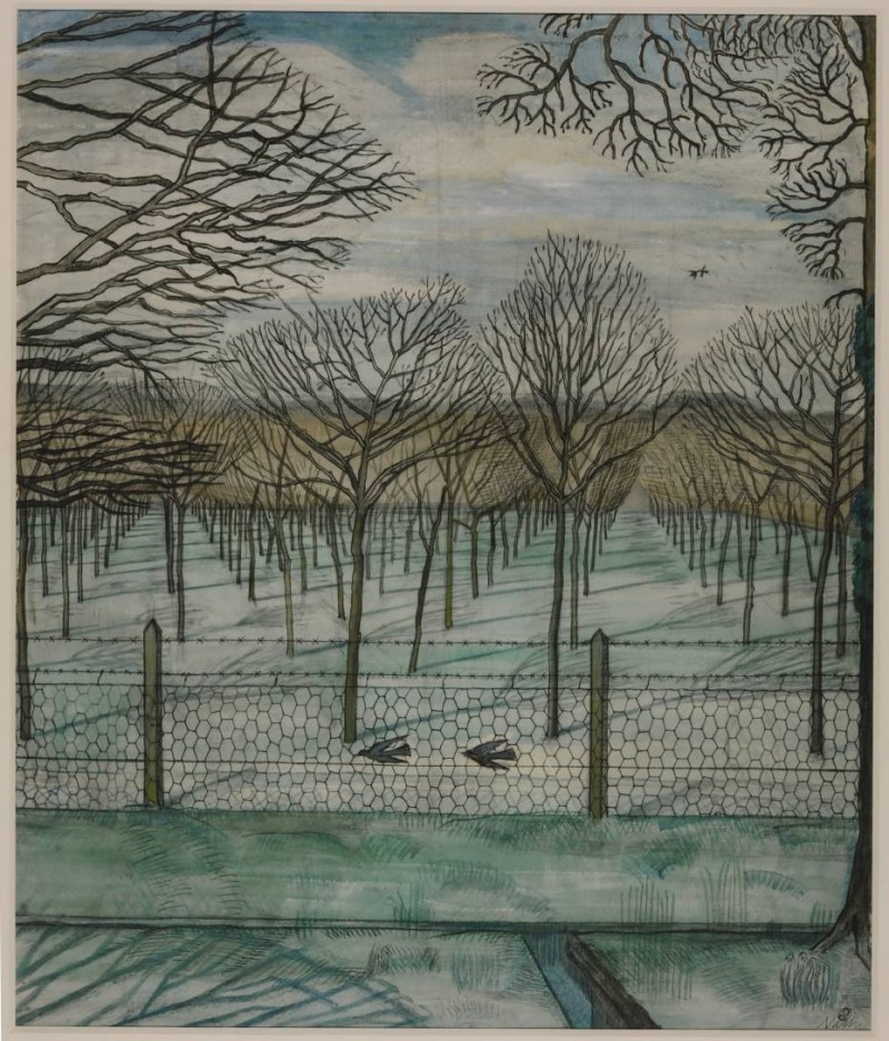 """Paul Nash, """"The Orchard"""" (c. 1914)"""