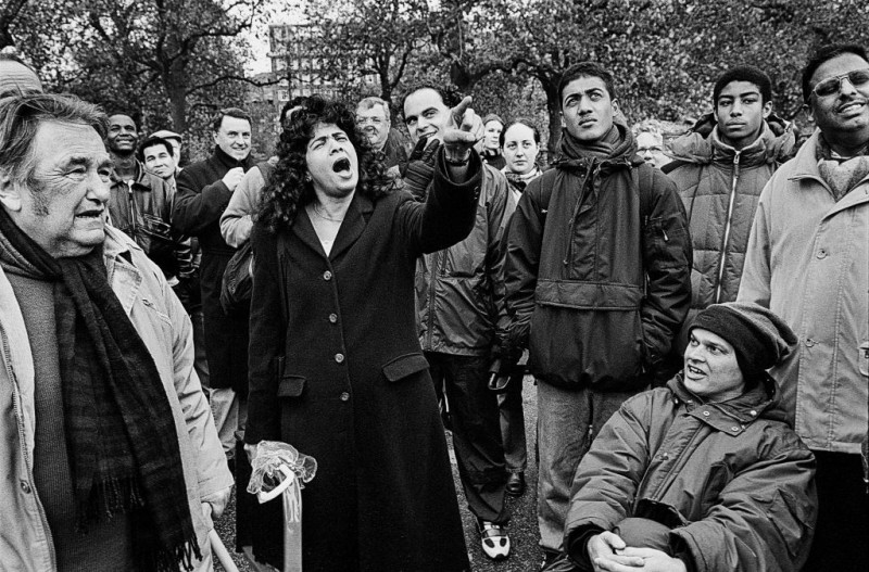 Heckler, Speakers' Corner, Hyde Park, London.