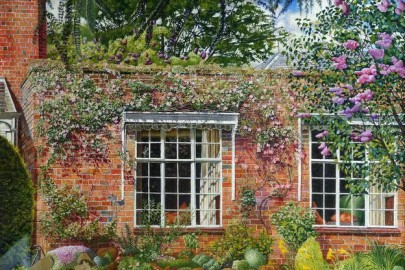 "Stanley Spencer, ""Lilac and Clematis at Englefield"" (1954"