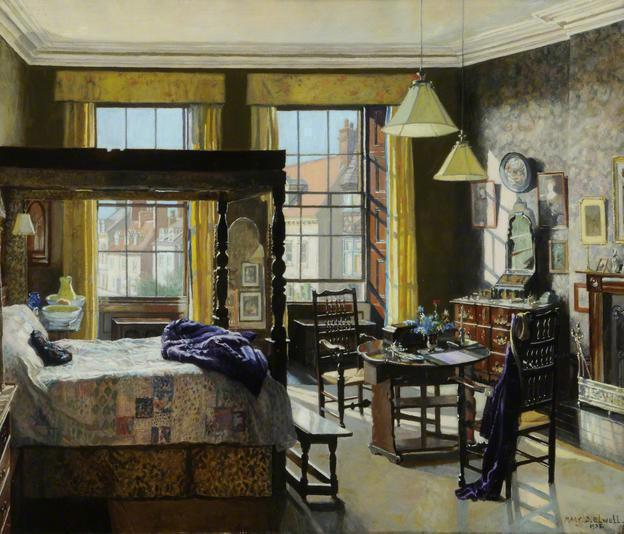 "Mary Dawson Elwel ""Bedroom, Bar House, Beverley, East Riding of Yorkshire"" (1935)"