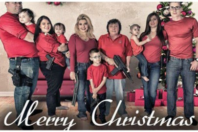 Michele-Fiore-and-Relatives-Pose-With-Guns-for-Family-Christmas-Photo