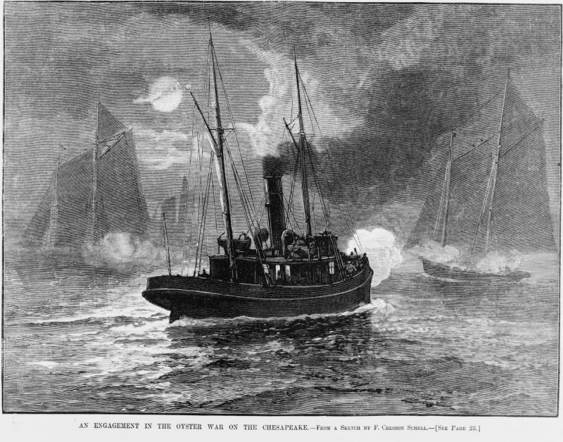 Oyster_wars_1886_Harpers_Weekly